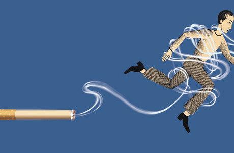 A fumagem deixada que não fazer para ganhar o peso