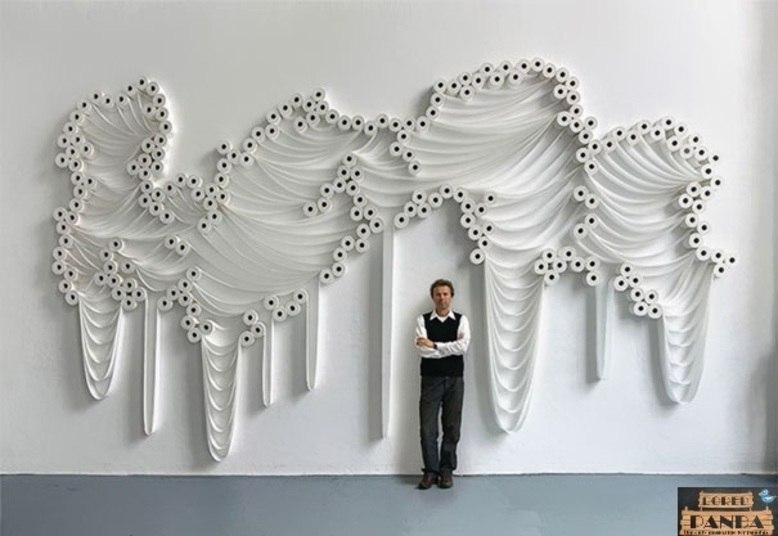 Ele Faz Verdadeiras Obras De Arte Usando A Papel Higi  Nico