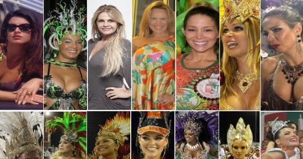 Veja as famosas que brilharam à frente da bateria da Grande Rio ...