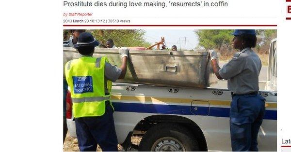 Prostituta morre durante vuco-vuco e ressuscita em seguida ...