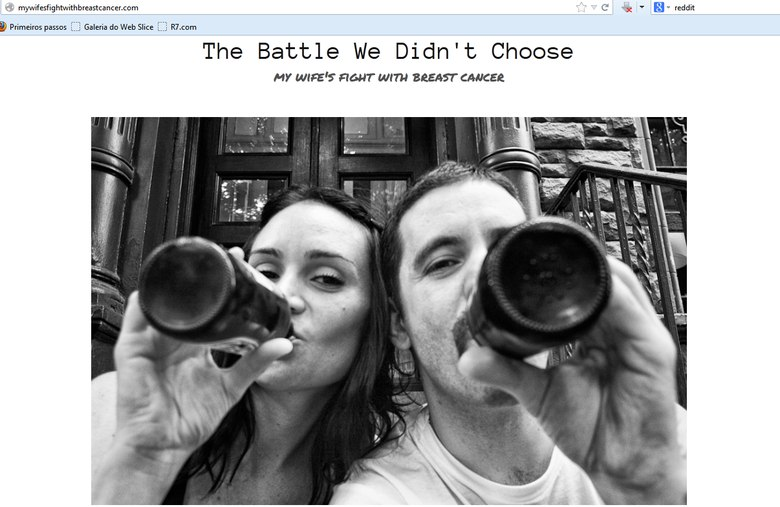 "Reprodução site ""The battle We Didn't Choose""/Angelo Merendino"