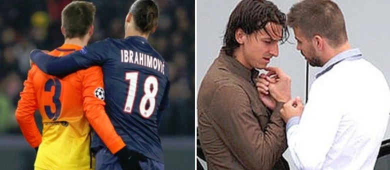 Ibrahimovic Foto Pique Piqué e Ibrahimovic é