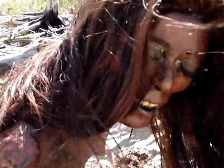 O rosto da sereia deixou a gente meio em dúvida porque parece coisa de um manequim tosco...