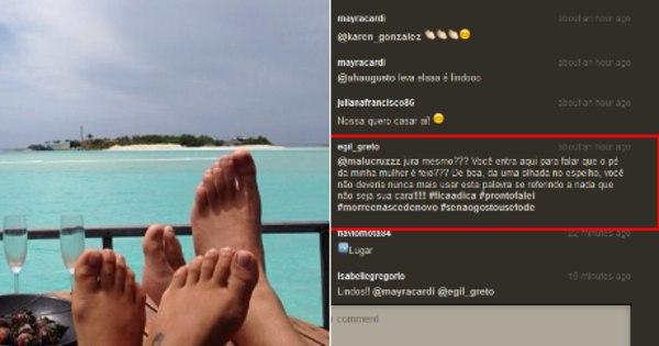 Marido de Mayra Cardi esculacha seguidora que disse que o pé da ...