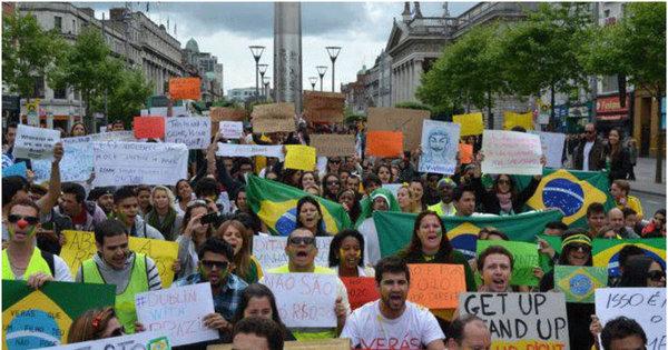 Manifestações de apoio aos protestos no Brasil tomam ruas pelo ...