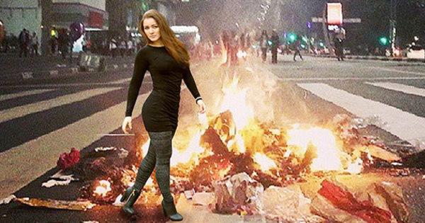 Ela voltou! Meme de Nana Gouvêa retorna com protestos em São ...