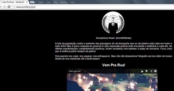 Grupo de hackers Anonymous invade site do PMDB - Notícias - R7 ...
