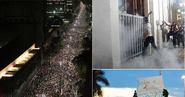 Manifestantes tomam ruas e protestam em várias cidades do Brasil ...