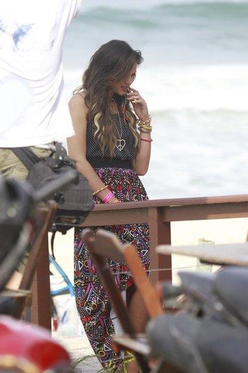 Não é a primeira vez que Marquezine ataca de modelo; a atriz desfilou no Fashion Rio neste ano