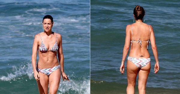 Mesmo com celulites, Luana Piovani exibe boa forma em praia ...