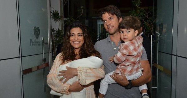 """"""" Juliana Paes e o bebê estão ótimos e em casa"""", afirma assessor da ..."""