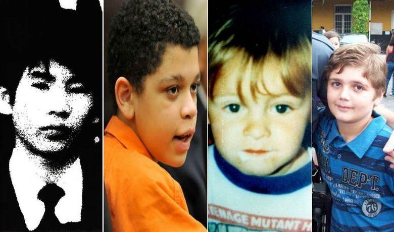 A Polícia Civil de São Paulo está investigando se o adolescente Marcelo Eduardo Bovo Pesseghini (na foto, à dir.), de 13 anos, é o autor do assassinato de seus pais — um casal de policiais — e de outras duas parentes dentro de casa, na segunda-feira (5). O corpo do garoto também foi encontrado na cena do crime, na zona norte da capital paulista, com sinais de suicídio.  É difícil compreender o que leva uma criança  ou um adolescente a cometer um crime brutal. No entanto, essa é uma  situação real, em que pessoas aparentemente incapazes de atos cruéis  fazem vítimas sem pudor algum e chocam a sociedade. Conheça a seguir alguns casos de crianças que foram acusadas, julgadas e condenadas pelos mais diversos tipos de crimes
