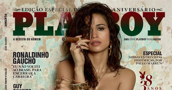 Com charuto na boca, Nanda Costa faz homenagem a Cuba na ...