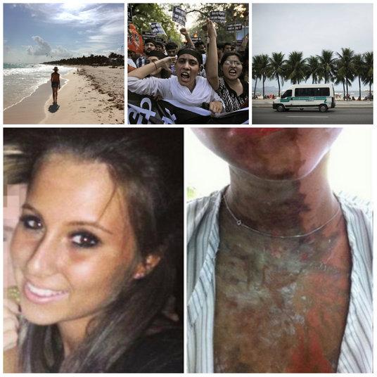 O ataque com ácido envolvendo duas jovens britânicas, Katie Gee e Kirstie Trup, que passavam férias no arquipélago de Zanzibar, naTanzânia, ocorrido na última quinta-feira (8), chocou a comunidade internacional. As garotas sofreram queimaduras graves no corpo e agora estão no Reino Unido em recuperação.Neste ano, casos similares de violência contra mulheres turistas também foram registrados em outros países do mundo, como na Índia e, até mesmo, no Brasil. Tais atos de brutalidade denunciam a difícil situação enfrentada por estrangeiras que viajam à lazer e acabam vítimas deagressões.Por este motivo, o site Business Insider fez um levantamento dos países em que as turistas correm maior risco de sofrer todo o tipo de violência, principalmente, a sexual. A pesquisa deixa claro que a lista não deve ser umimpeditivopara qualquer aventura internacional, e deve servir apenas como um alerta para medidas preventivas. Afinal de contas, crimes e acidentes podem ocorrer em todo lugar e boa parte deles não sãoprevisíveis. Conheça os principais destinos do planeta que apresentam um ambiente potencialmente perigoso para as mulheres viajantes