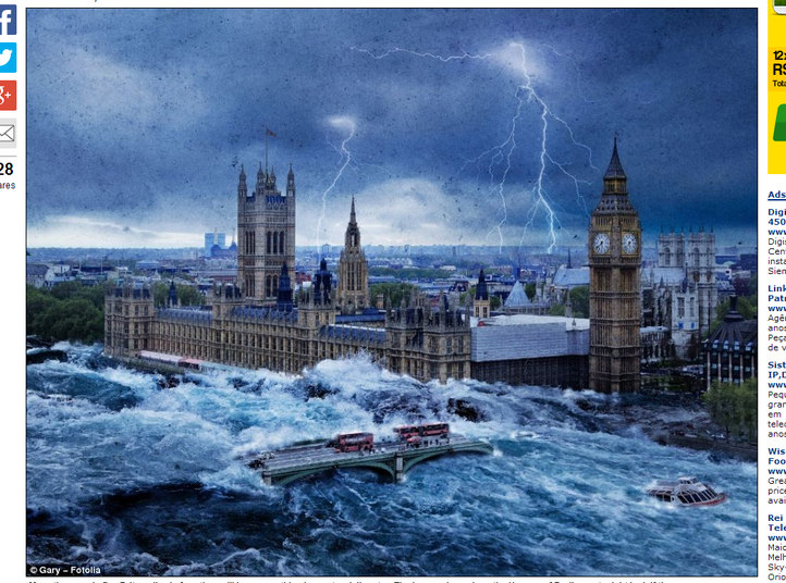 1º lugar –Inundações (52%)
