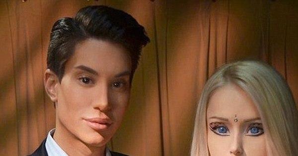 Ken humano faz bafão, mas curte mesmo é a Barbie humana - Fotos