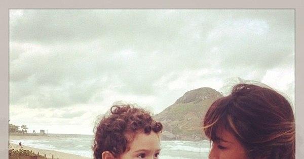 "Daniele Suzuki se declara para o filho Kauai: ""Amor meu ..."