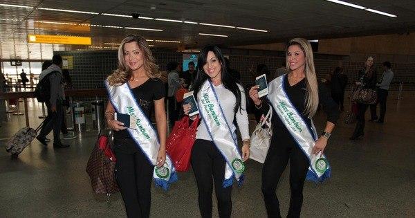Popozão gringo! Candidatas ao Miss Bumbum 2013 viajam para ...