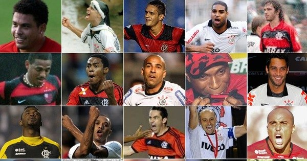 Times do povo, Corinthians e Flamengo colecionam ídolos em ...