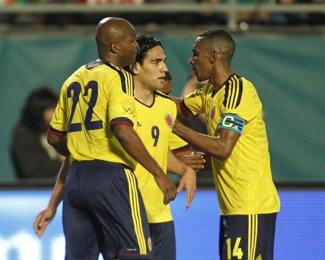 A Colômbia, que espera a recuperação de Falcao Garcia para a Copa do Mundo, é a quarta colocada