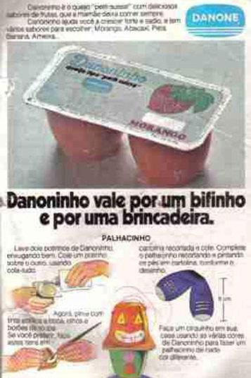 Quem não lembra da propaganda no Danoninho? 'Danoninho vale por um bifinho'. Até hoje, as embalagens não mudaram muita coisa