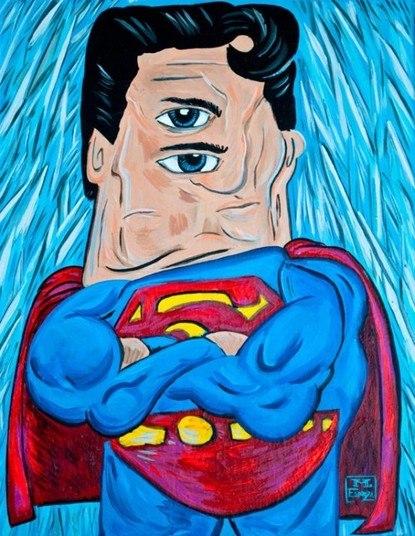 Já imaginou se os Super-heróis fossem desenhados por PabloPicasso? Foi essa ideia que teve o desenhista Mike Esparza, ele idealizou osheróis na forma do cubismo, arte criada pelo pintor espanhol. Veja a seguircomo seriam os heróis desenhados por Pablo Picasso. O Super-Homem manteve seus músculos, mas ficou com um olho emcima do outro