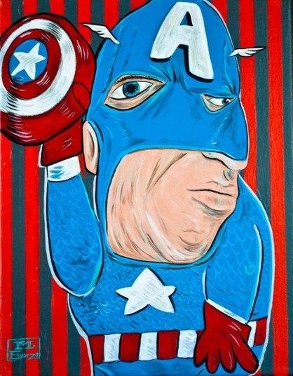 O Capitão América ganhou um olhar estrábico