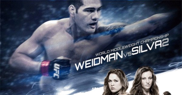 UFC divulga pôster da revanche entre Anderson Silva e Weidman ...