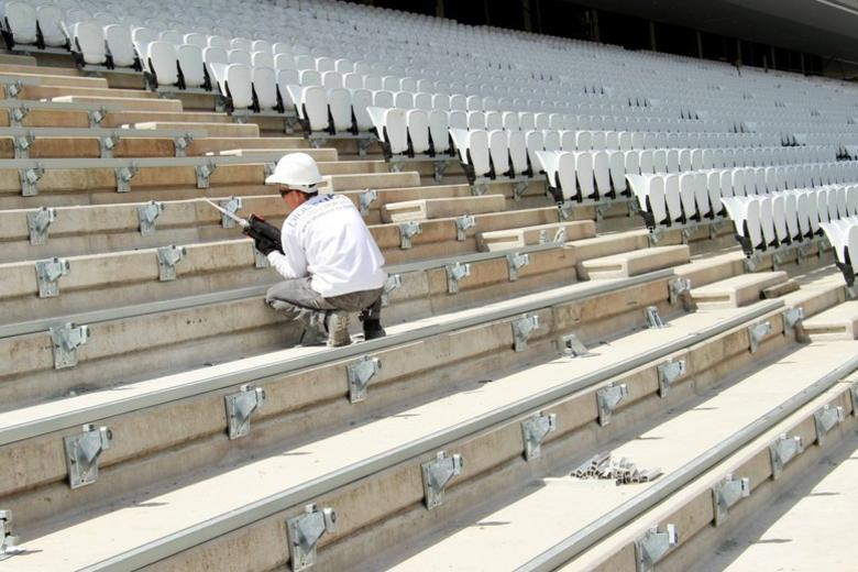 Para a Copa 2014, o Itaquerão terá mais 20 mil lugares em arquibancadas modulares atrás dos gols
