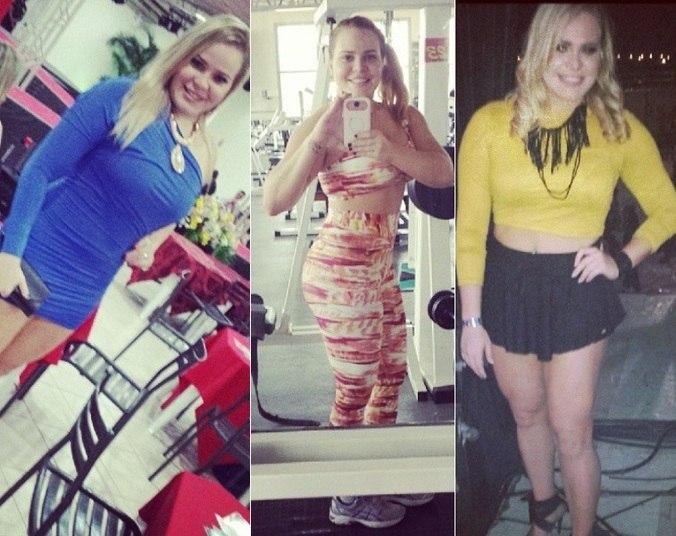 Paulinha Leite, ex-BBB, se esforçou e conseguiu emagrecer. E mesmo dizendo que espera mudar ainda mais o corpo, a loira já investiu em grandes mudanças nas roupas que são cada vez mais justas e curtas para valorizar as curvas. Veja nas fotos a seguir