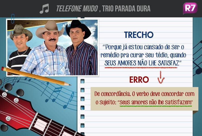 Telefone Mudo, Trio Parada Duraclássico sertanejo já foi gravado por duplas famosas, como Victor & Leo