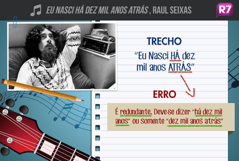 Eu Nasci Há Dez Mil Anos Atrás, Raul Seixas: do quinto álbum homônimo do cantor