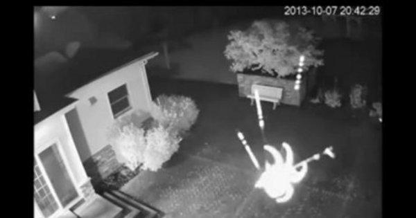 Câmera de segurança flagra aranha fazendo teia - Notícias - R7 ...