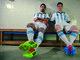Dois dos principais jogadores hermanos, Lavezzi e Messi posaram para a campanha