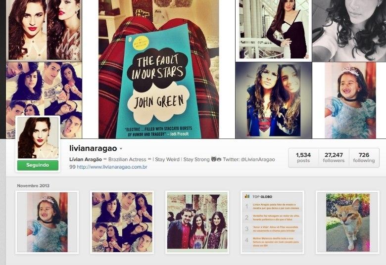 Lívian Aragão também é do time de Bruna Marquezine e Neymar! A filha de Renata Aragão mantém um perfil público, no qual se comunica com os fãs. Lá, a teen coloca fotos de seus ensaios e os bastidores de seus trabalhos, com mais de mil postagens