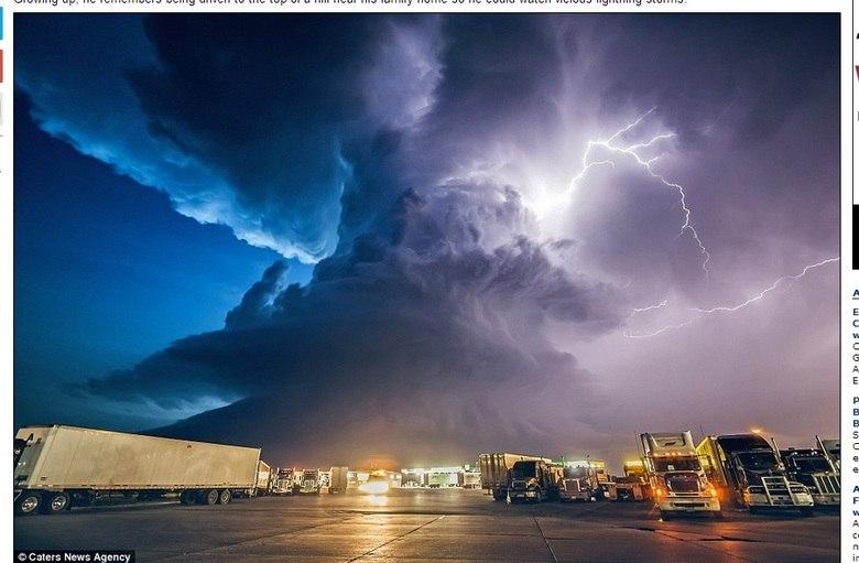 Essa é uma tempetade que acontecia em Nebrasca, nos Estados Unidos