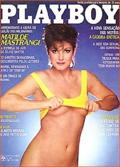 Matilde Mastrangi, dançarina e assistente de palco do programa Silvio Santos, atuou no cinema em pornochanchadas. Foram mais de 30 filmes, entre eles Bacalhau (1975) e Sócias do Prazer (1980). Em 1984, a atriz posou para a Playboy. Fez sucesso na TV em duas novelas, Cortina de Vidro, do SBT e Vereda Tropical, da Globo