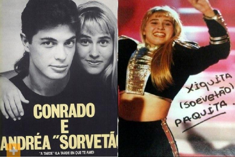 Andreia Sorvetão ficou conhecida por ter sido a Xiquita entre as paquitas. Ela começou a carreira como modelo e se tornou uma das assistente de Xuxa em 1986. Sorvetão aproveitou o sucesso e posou nua para a revista Playboy e para a revista Sexy