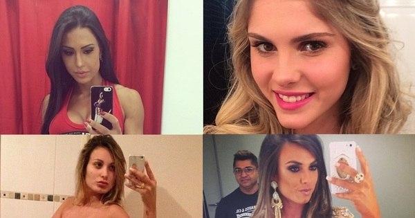 Nudez e beijinho em frente ao espelho; confira as 'selfies' dos ...