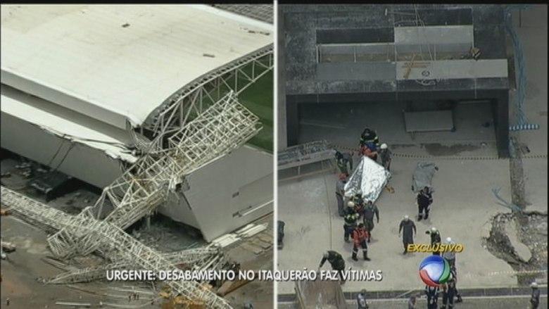 O Corpo de Bombeiros trabalha intensamente no local do acidente para atender às pessoas feridas. Duas pessoas foram socorridas pelo helicóptero Águia, da Polícia Militar