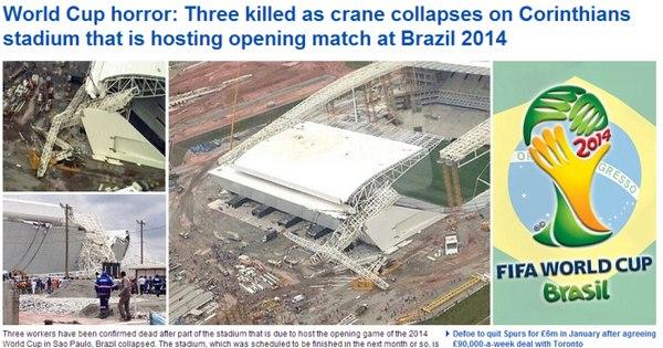 Tragédia na Arena Corinthians é destaque em todo o mundo - Fotos ...