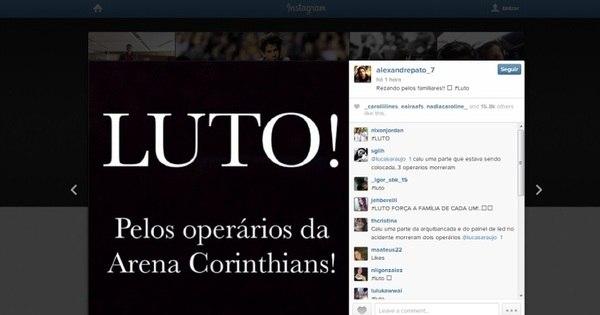 Autoridades e jogadores se sensibilizam com tragédia em Itaquera ...