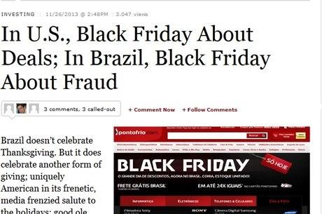 """fa9a5287d2 Revista americana faz piada de Black Friday no Brasil e diz que pode se  tornar """"dia da fraude"""""""