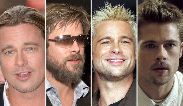 Brad Pitt passa dos 50 anos mais bonito do que nunca. Confira a evolução na aparência do ator