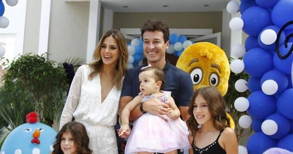 """Rodrigo Faro comemora aniversário de um ano da filha e avisa: """"A ..."""