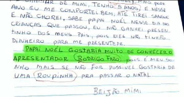 Muita emoção! Fã mirim realiza o sonho de conhecer Rodrigo Faro ...