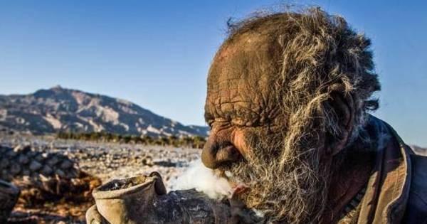 Homem das cavernas: iraniano não toma banho há 60 anos - Fotos ...