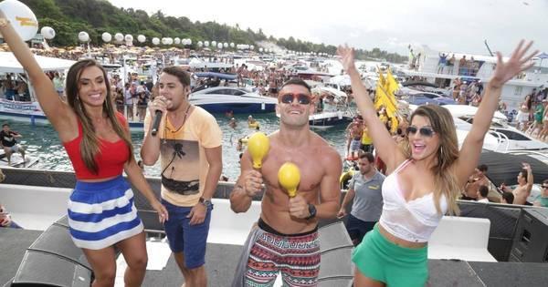 Nicole Bahls, Babi Rossi e Yuri se divertem em micareta náutica ao ...