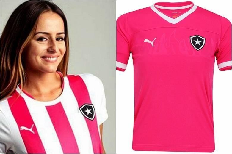 No Brasil, o próprio Botafogo entrou na moda rosada em 2013, mas a cor é exclusiva do uniforme femininoSaiba tudo sobre esportes! AcesseR7.com/esportes
