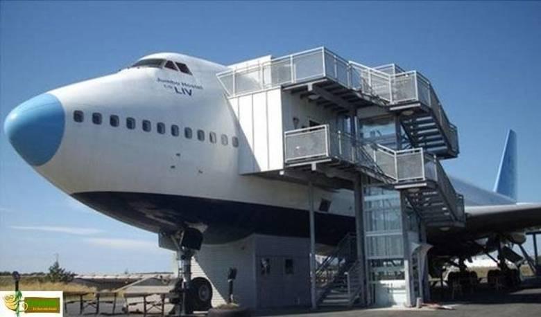 A Suécia sabe MESMO fazer reciclagem. Transformar um Boeing 747 num hotel é um exemplo de mestre!